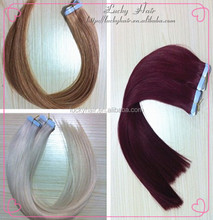 Factory cheap price 6A high quality human hair extension clear band tape hair extensions