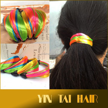 Braided hair band with synthetic hai Hair Ring Hair circle Fat ring with elastic Head Bands