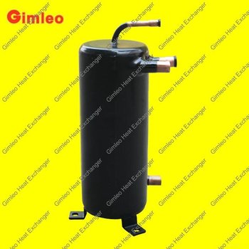 High efficiency tube in shell heat exchanger/heat pump heat exchanger/chiller heat exchanger