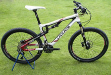 Laplace 26er full suspension carbon fiber mountain bike on promotion