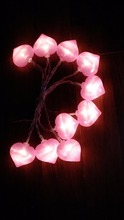Hot selling bling bling heart-shaped led string lights battery operated