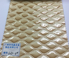 2016 Newest Good Shining Surface Spray Vacuum PVC Synthetic Leather for Bags/Shoes/Belts