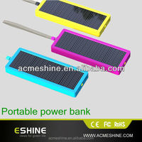 solar power bank charger 3500 mAh with solar charger for mobile with LED light