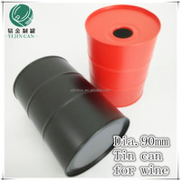 hot-selling materail tinplate round 700ml wine tin boxes