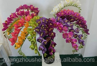 Hot sales artificial freesia flower /wholesale decorative artificial freesia made in China