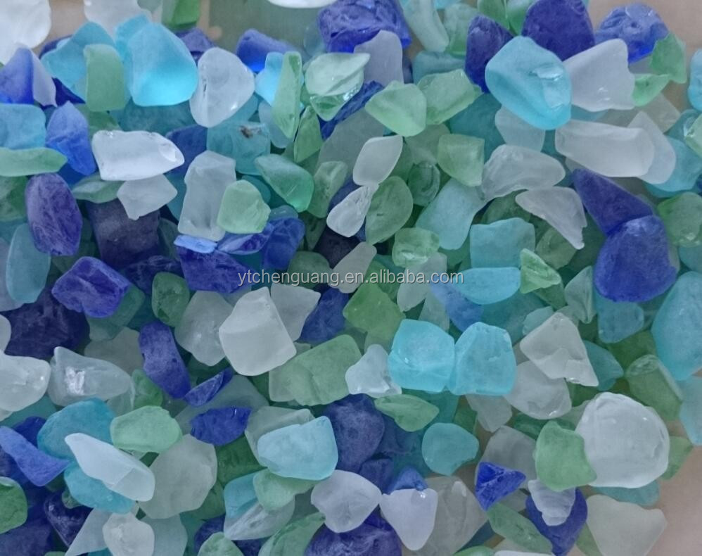 Concrete recycled glass chips,glue chip glass for sale