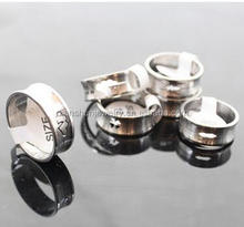 2016 yiwu facotry hot sale Stainless steel curved concave hollow ring DSJ0000270