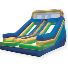cheap double lanes inflatable slides