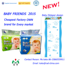 Quanzhou Factory cheap wholesale diaper Hot selling BABY FRIENDS baby diapers