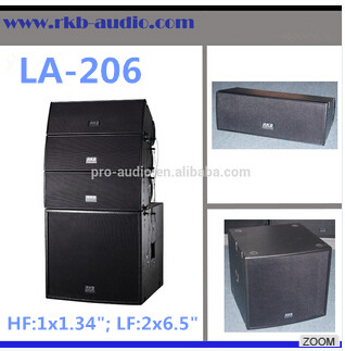 LA-206 pro mini 6.5 inch sound system speaker box/speakers professional