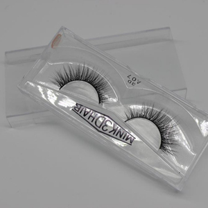 Low MOQ real mink fur false eyelash full strip 3D mink lashes
