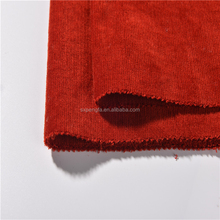 2018 hot style red corduroy super fine yarn dyed italian cotton shirt fabric