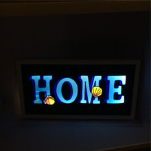 night light frame wall picture light photo-frame with led light inside