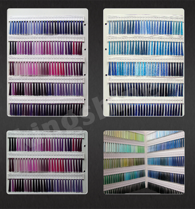 New Machine High Quality Sewing Thread Color Shade Card Sample Book Yarn Shade Cards