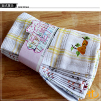 Promotional Cheap 100% Cotton Yellow Waffle Kitchen Tea Towel