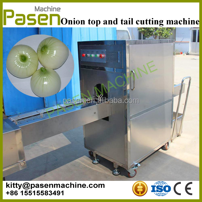 Onion top and tail cutting machine / Onion cutting machine / Onion processing machine
