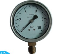 4'' 100mm stainless steel case bottom type oil low pressure gauge
