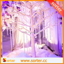 Pretty hanging crystal strand garland Christmas trees wedding decoration