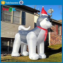 3m inflatable balloon dog Husky,outdoor inflatable christmas decoration dog