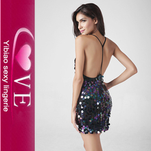 Erotic Hot Sequins Mini Dresses Girls Sexy Highly Clubwear
