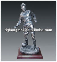 play football resin sports figurines