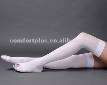 18mmHg Anti embolism open toe thigh high stocking