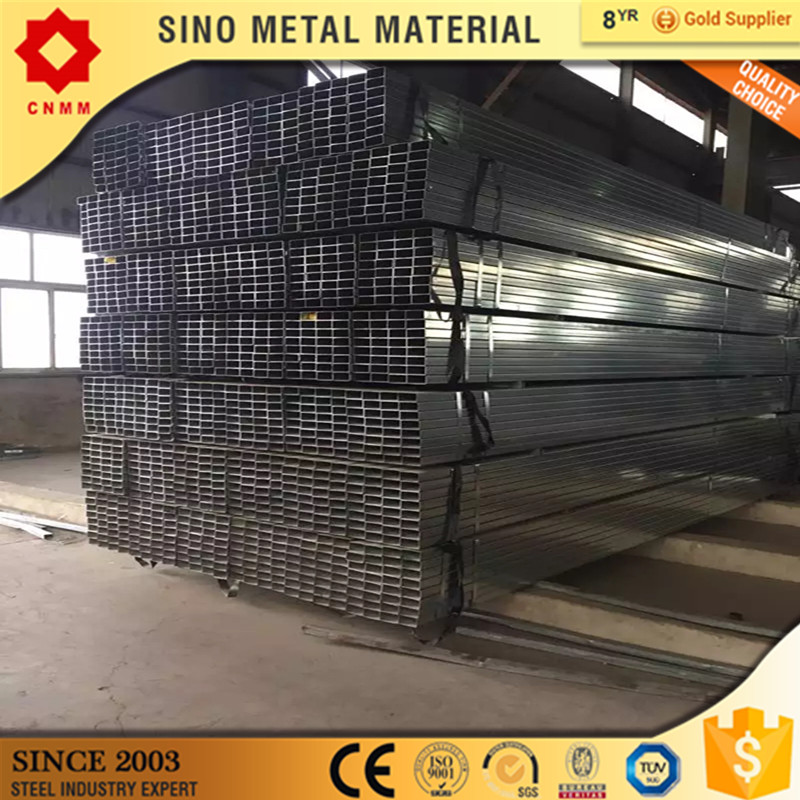 weld gi rectangular metal tubing q195 ms galvanized gi rec square pipes gi tube galvanized steel pipes