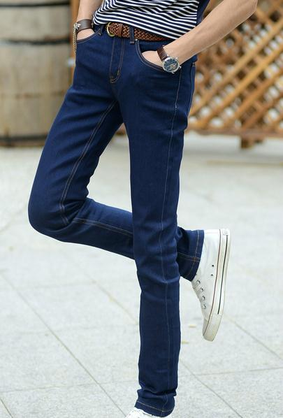 Europe and America hot selling retrostyle men pants winter/autumn slim pencil denim jeans for boys