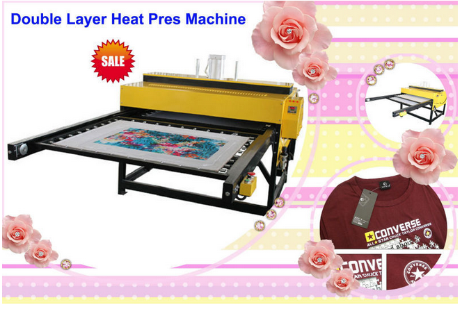 Large Format Printing Machine Tshirt Printing Pneumatic Heat Press Machine T-shirt
