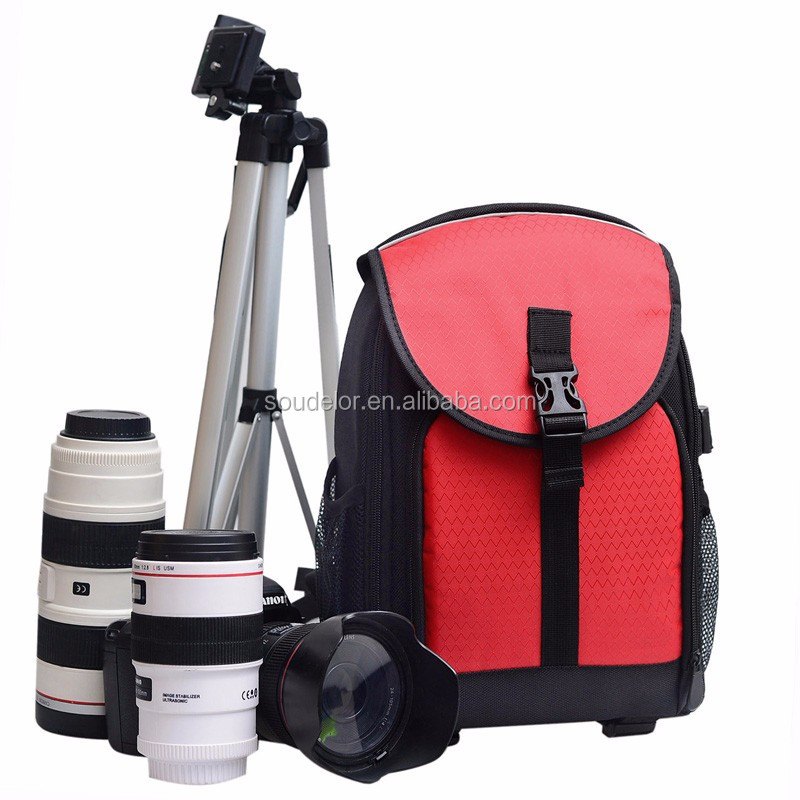 2015 Chinese factory dslr Waterproof Nylon Shoulder camera backpack bag