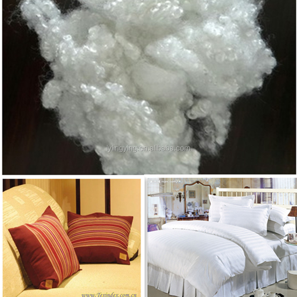 1.33d to 25d recycle polyester fiber for filling home textiles furniture quilts filling fiber made in china