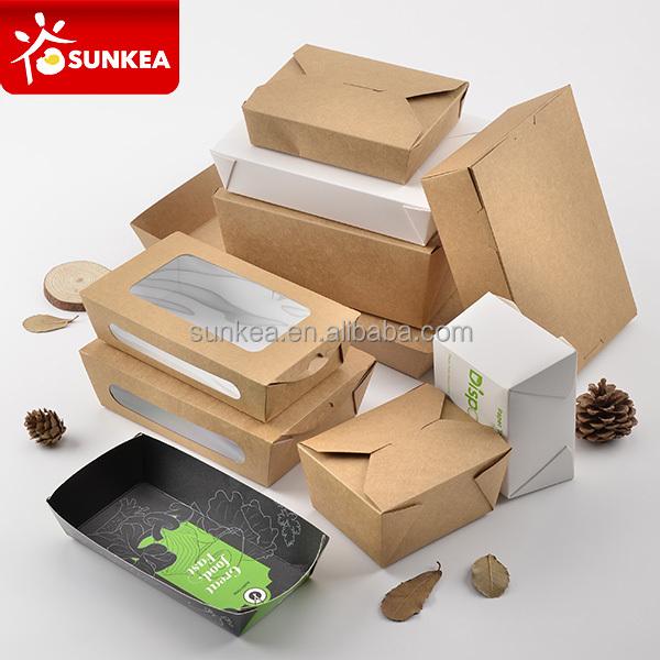 biodegradable y compostable papel rápido de embalaje de alimentos