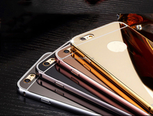 HOT 100% Scratch Resistant Shinning Gold Mirror Case Cell Phone Case With Mirror For iPhone 6s/6s Plus