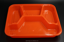 4 Compartments Disposable Plastic Bento Box With Lid