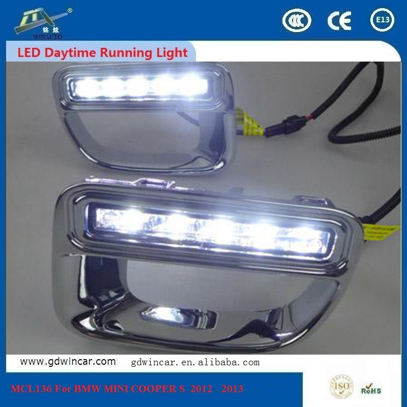 White With Yellow Daytime Running Light For Bmw Mini Cooper s 2012 - 2013