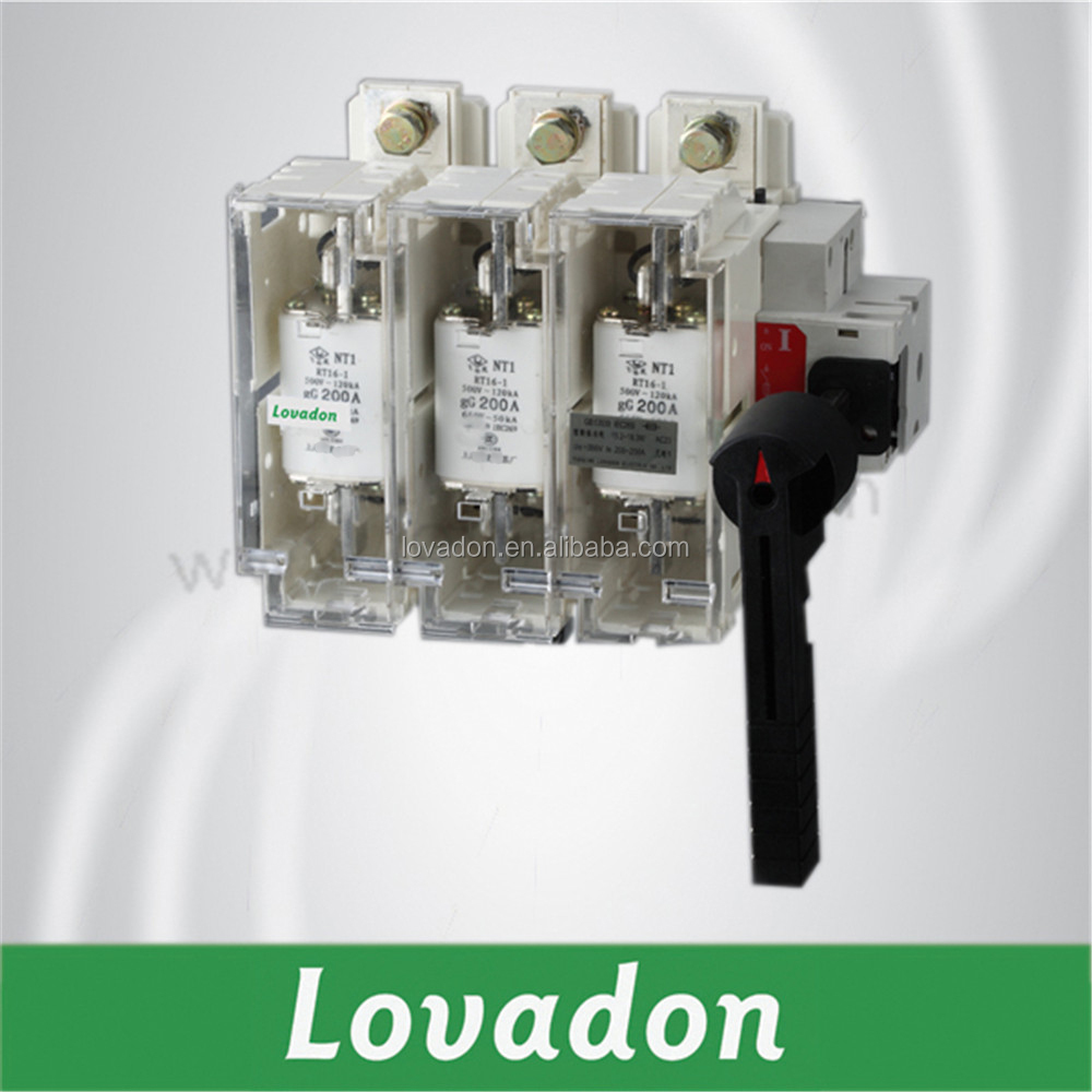 Industrial 3P HGLR Disconnector Load Break Isolator Switch With Fuse Group