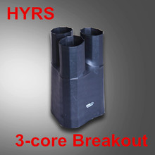 Black conductive breakout with hot melt, heat shrinkable anti-tracking breakouts