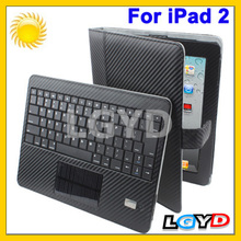 New arrival best selling Solar Charger Bluetooth keyboard With Detachable Leather Case for New iPad (for iPad 3) /for iPad 2