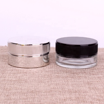 Transparent eye Cosmetic 2 oz Cream Glass Bottles and Jars
