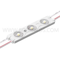 super bright 12v 24v 3leds/pcs white red green blue yellow warm white 5730 led module exposy drop glue led