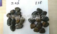 chinese stripe pebble stone, natural striped river rock,natural loose pebble stone