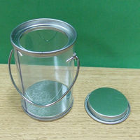 Wholesale food industrial plastic pail with tinplate lid