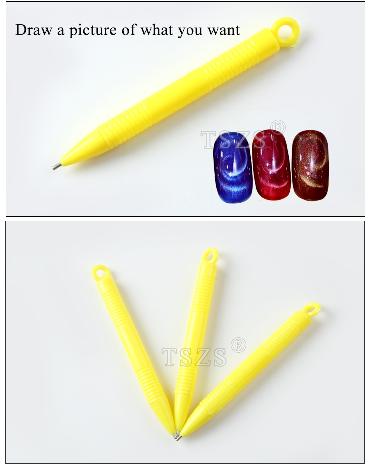 TSZS Fashion Tool Nail Design Dotting Manicure Gel Polish Nail Magnet Pen