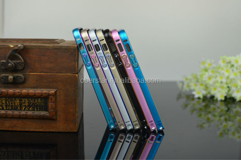New Products 2014 0.7mm Super Slim Case Smart Phone Dual Color Bumper For iPhone 5 5S