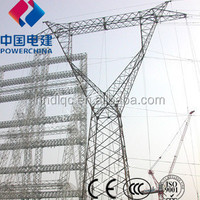 500KV Electric Power Transmission Steeltower Pole