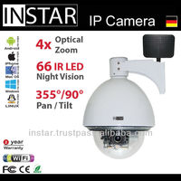 INSTAR IN-4011 Wifi Surveillance Camera with microphone and IR Cut Filter, 4x optical Zoom