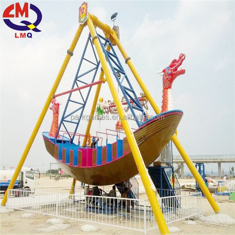 Amusement park products wooden pirate ship model