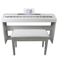 88 Weighted PVC case Digital Piano with midi jack