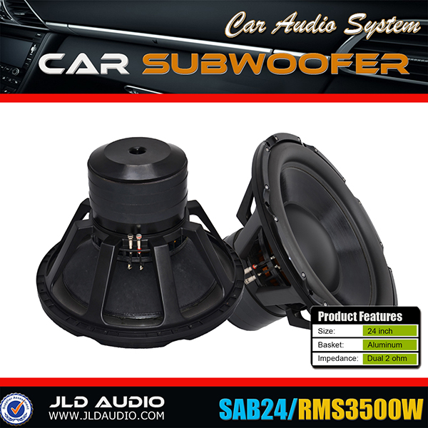 "Made in China 3500w car subwoofer spl speaker with 5"" voice coil 24 inch subwoofer"