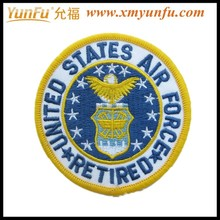 Cusomized Badge Round Patch Embroidery Eagle Emblem